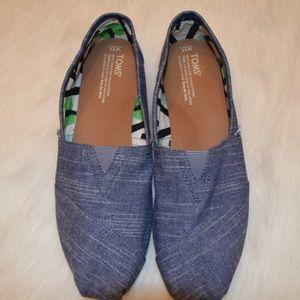 TOMs Blue Denim Classic Shoes Sz 11